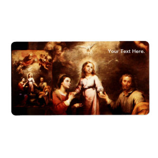 Two Trinities - The Holy Family - Murillo Shipping Label
