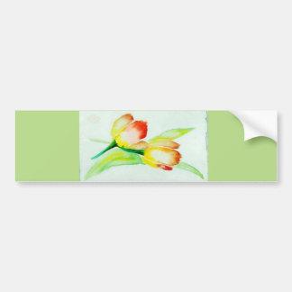 Two Tulips Bumper Sticker
