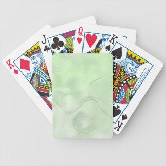 Two Tulips Flower Sketch in Green Poker Deck