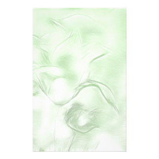 Two Tulips Flower Sketch in Green Stationery