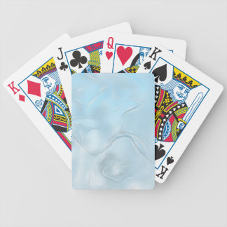 Two Tulips Flower Sketch in Ice Blue Bicycle Playing Cards