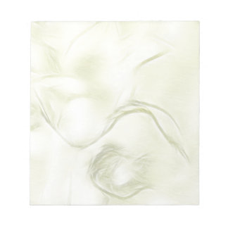 Two Tulips Flower Sketch in Light Yellow Notepad