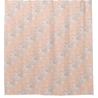 Two Tulips Flower Sketch in Peach Shower Curtain