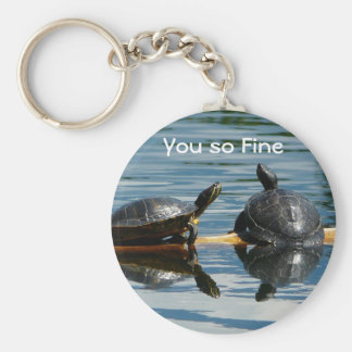 Two Turtles at the Turtle Bar Key Ring