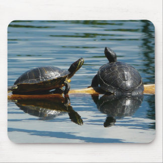 Two Turtles at the Turtle Bar Mousepads