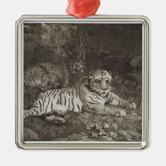 Two Tygers, engraved by the artist, pub. 1788 (etc Silver-Colored Square Decoration