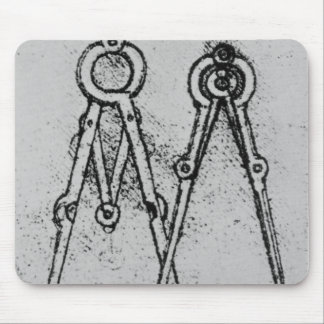 Two types of adjustable-opening compass mouse mat
