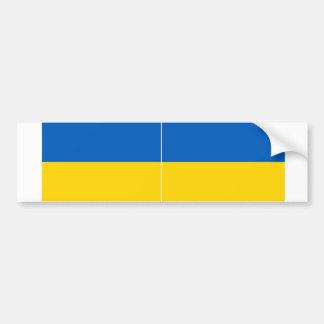TWO Ukraine National Flag Bumper Sticker