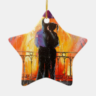 Two under an umbrella christmas ornament