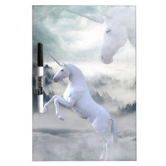 Two Unicorns Dry Erase Board