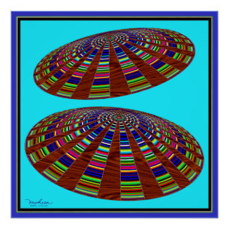 Two Unidentified Flying Saucers Poster