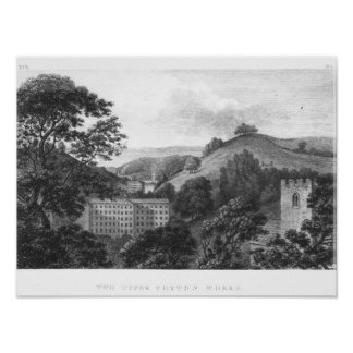 Two Upper Cotton Works, New Lanark Textile Poster