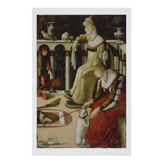 Two Venetian Ladies (panel) Poster