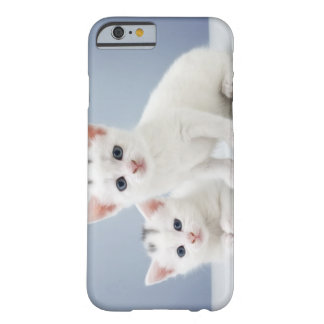 Two very young white kittens stare inquisitively barely there iPhone 6 case