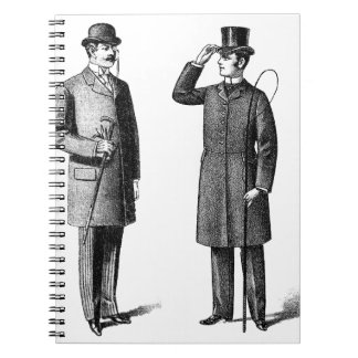 Two victorian gentlemen notebooks