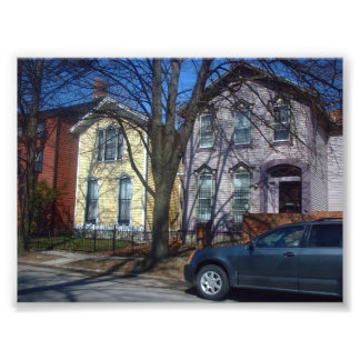 Two Victorian Houses in Buffalo New York Photograph