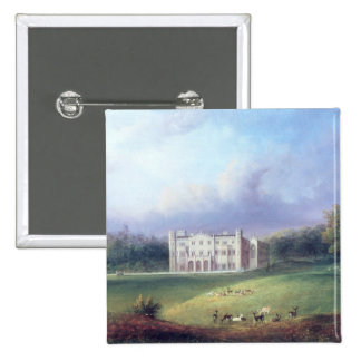 Two Views of Apley Priory 15 Cm Square Badge