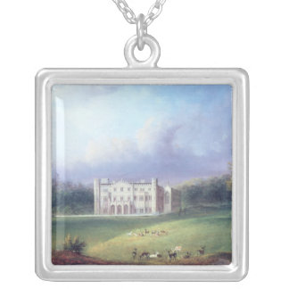 Two Views of Apley Priory Silver Plated Necklace