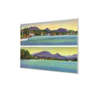 Two Views of Lake Flower Canvas Print