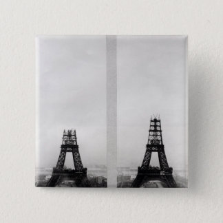 Two views of the construction of the Eiffel 15 Cm Square Badge