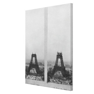Two views of the construction of the Eiffel Gallery Wrapped Canvas
