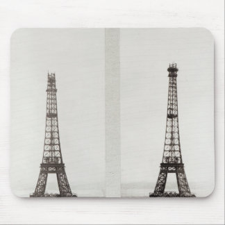 Two views of the construction of the Eiffel Mouse Mat