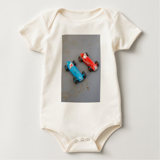 Two vintage toy cars baby bodysuit