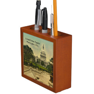 Two Vintage United States Capitol Images 1871-1898 Pencil Holder