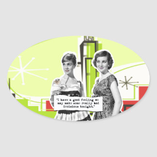 Two Vintage Women with Modern Day Intentions Sticker