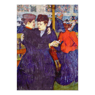 Two Waltzers by Toulouse-Lautrec 13 Cm X 18 Cm Invitation Card