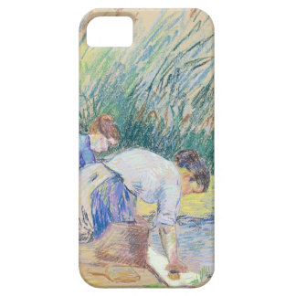 Two Washerwomen (pastel on paper) Case For The iPhone 5