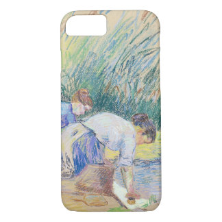 Two Washerwomen (pastel on paper) iPhone 8/7 Case