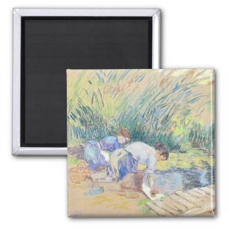 Two Washerwomen (pastel on paper) Magnet
