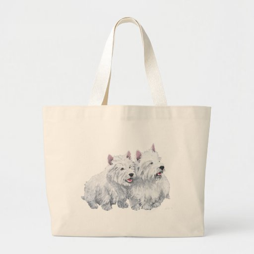 Two Westies Canvas Bags