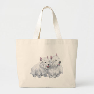 Two Westies Jumbo Tote Bag