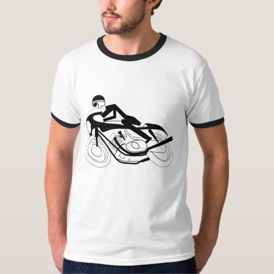Two Wheel Footprint Black T-Shirt