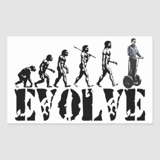 Two Wheeled Transportation Vehicles Evolution Art Sticker
