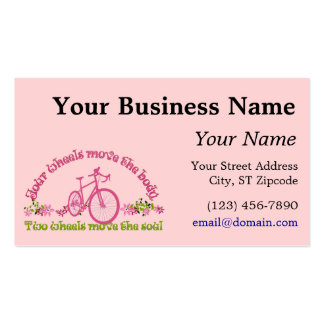 Two wheels move the soul business card template