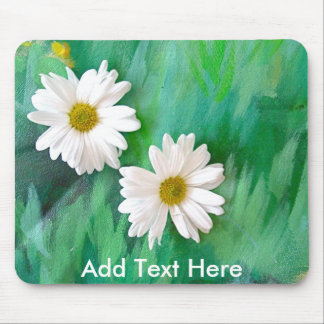 Two White Daisies Mouse Pad