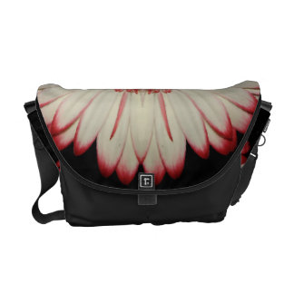 Two White Gerbera Daisies Commuter Bag