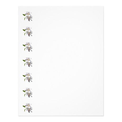 Two White Lilies 21.5 Cm X 28 Cm Flyer