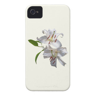 Two White Lilies iPhone 4 Case