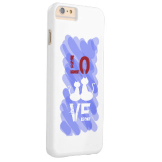 Two White Love Cats Silhouettes Barely There iPhone 6 Plus Case