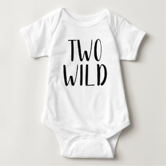 Two Wild Baby Outfit Baby Bodysuit
