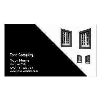 Two Windows Pack Of Standard Business Cards