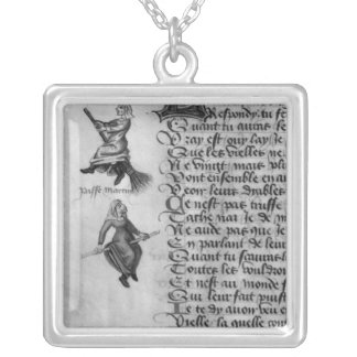 Two witches from 'Le Champion des Dames' Silver Plated Necklace