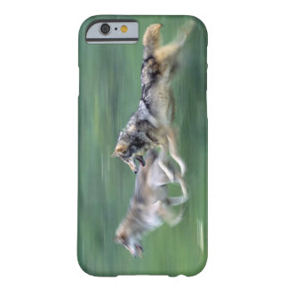 Two wolves in mountain meadow barely there iPhone 6 case