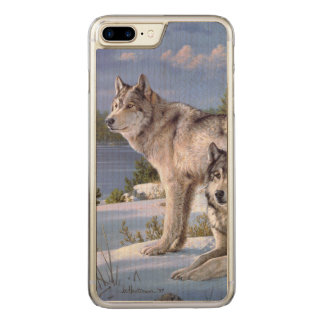 Two wolves in winter Siberian Carved iPhone 8 Plus/7 Plus Case