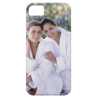 Two woman wearing bath robes barely there iPhone 5 case