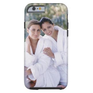 Two woman wearing bath robes tough iPhone 6 case